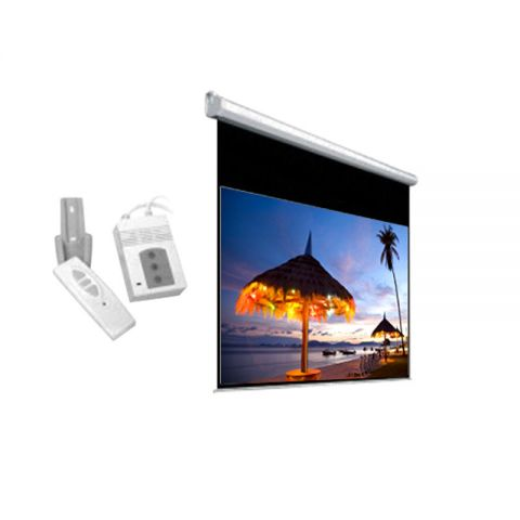 "DP Motorized/Electric Projection Screen 84"" x 84"""