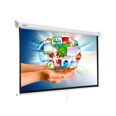 "Dopah Manual Wall Screen 96"" X 96"" (8'x8') Matt White"