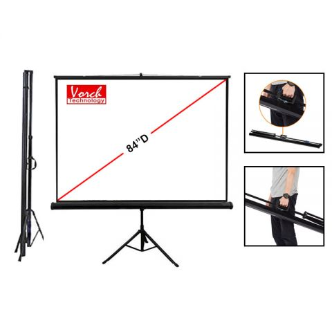 "Vosch Tripod Screen 84""D (73.2"" x 41.3"") Matt White"