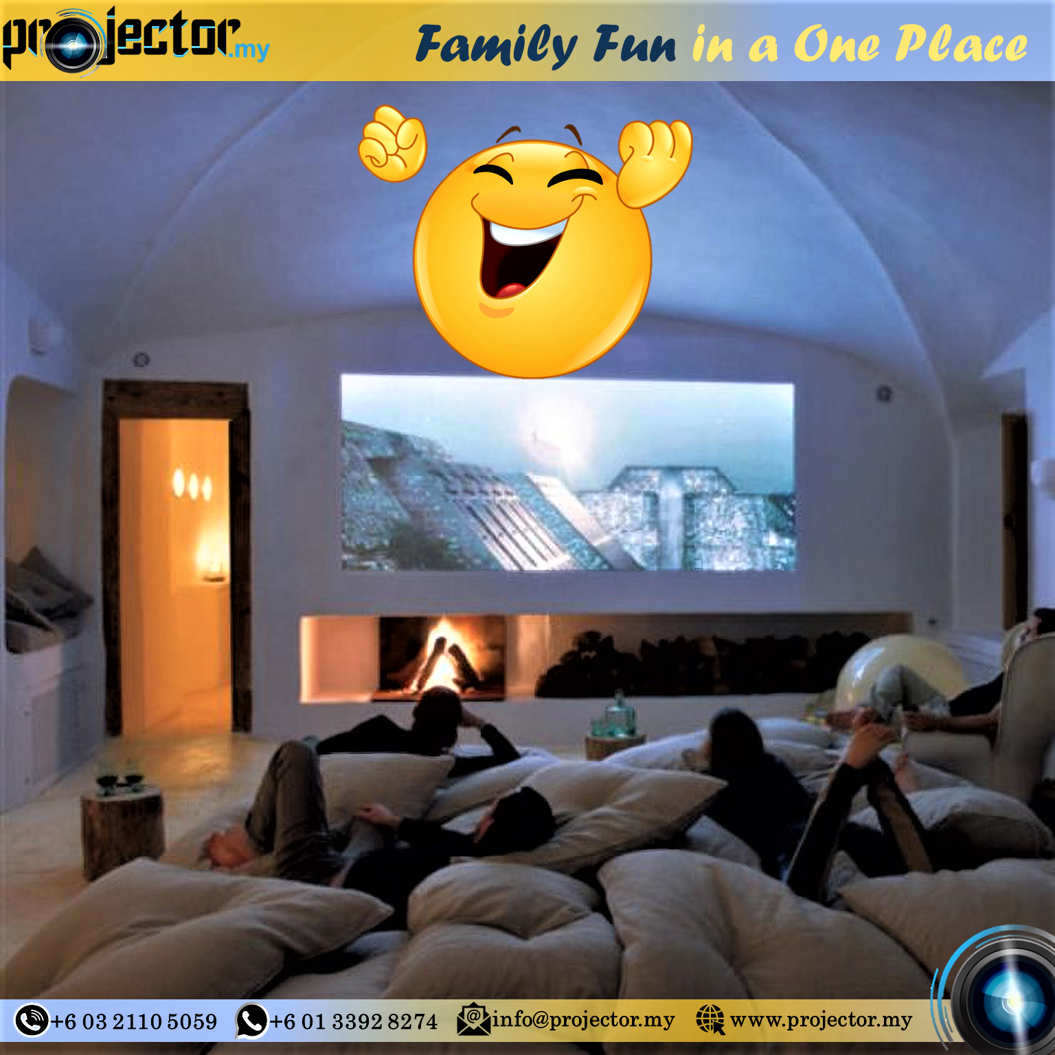 Home Cinema Projector is the Best solution for Entertainment in COVID-19 Time.